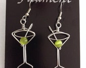 I'll Drink to That: Wire Martini Glass Earrings great for Bartenders, Waitresses, Hostesses. Unique gift idea.