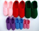 CV119 Crochet Pattern for Family Slippers, Childrens Slippers, Womens Slippers, Mens Slippers, Digital Download