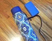 Yoga Mat Bag / Blue Batik Mat Bag / Yogini Mat Bag / Yoga Tote / Yoga bag