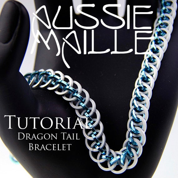 chainmaille tutorial dragon tail bracelet from