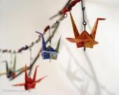 Tyvek Garden Art, Origami Crane Banner