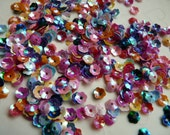 7g of 6 mm Mixed Opaque Iris Cupped  Flower Sequins(approximately 525 ct.)