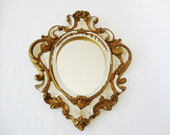 vintage mirror shabby baroque cottage chic style