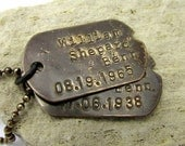 Dog Tag Necklace   Custom Dog Tags Personalized Necklace   Dog Tag   Dogtags   Rustic Military Style   Custom Dogtag Jewelry, John