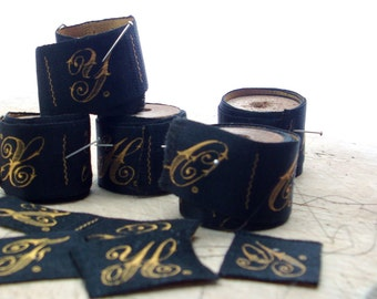 vintage 5 spools of initial ribbon