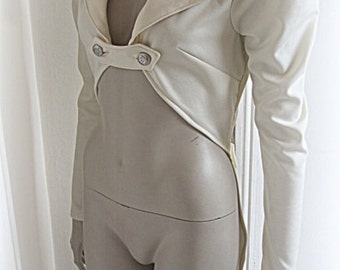 SALE LAST ONE Ivory steampunk tailcoat jacket