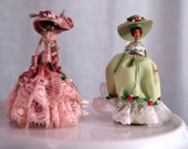 Miniature wire wrapped handmade doll house dolls
