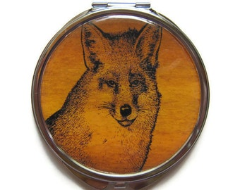 Fox Compact Mirror Pocket Mirror Large Gifts for her