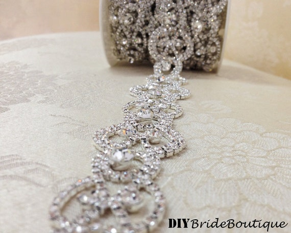 wedding cake with rhinestone trim 12 rhinestone trim rhinestone chain rhinestone by 26956
