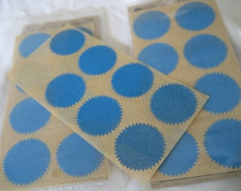 6 Sheets Blue Circle Paper Scrapbooking Stickers