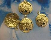 Raw Brass 17mm Sand Dollar Charms 1000RAW x4