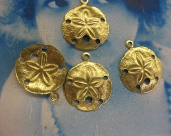 Raw Brass 17mm Sand Dollar Charms 1000RAW x4