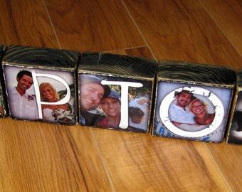 Photo Blocks- Last Name WEDDING / ENGAGEMENT GIFT- per block price