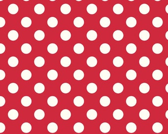Cotton Fabric, Red Polka Dot, Riley Blake Designs, 1/2 Yard, more available