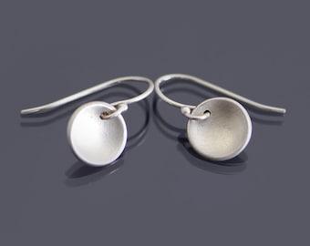 Everyday Silver Earrings, tiny silver earrings, sterling silver minimalist earrings, dainty earrings