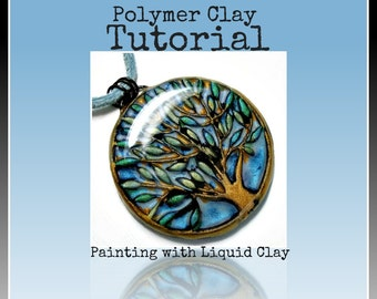 Polymer clay Tutorial- Jewelry Tutorial- How to Paint with Liquid Polymer Clay