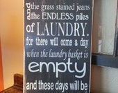 Today I will be Thankful Laundry Sign