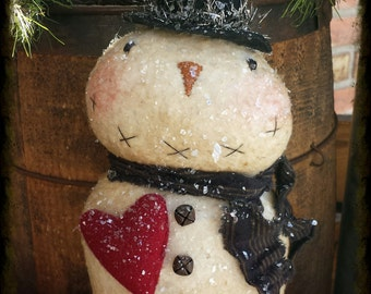 "Instant Download ""Jack"" Primitive Snowman Epattern"
