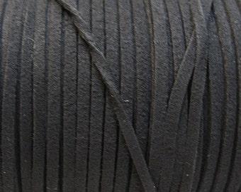 Black Ultra Micro Fiber Suede Faux Suede 3mm 6 yards