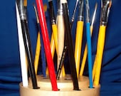 Special Wood 21 Paint Brush and Artist Colored Pencil Holder, Brush Gizzy 12