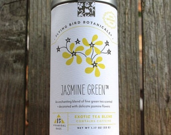 0426 Jasmine Green 15bag tin organic tea