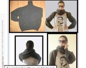 PDF Sewing Tutorial, Sleeve Scarf from Sweater E-book