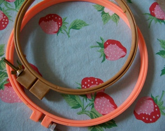 fun plastic embroidery hoops