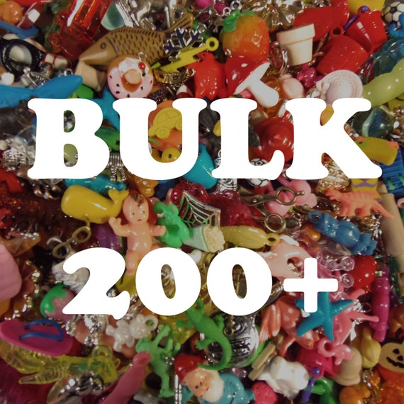 BULK Grab Bag of charms, beads, trinkets, nic-nacs, doodads (qty 200) wholesale