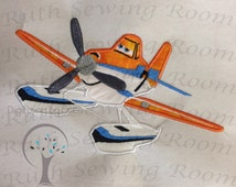 Flying Dusty Planes Fire Rescue Applique,  Fire Plane, Planes, Embroidery Design Instant download This is NOT A PATCH