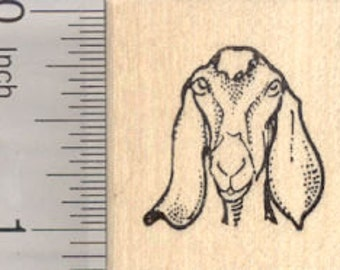 Nubian Goat Rubber Stamp, Small D25101 Wood Mounted