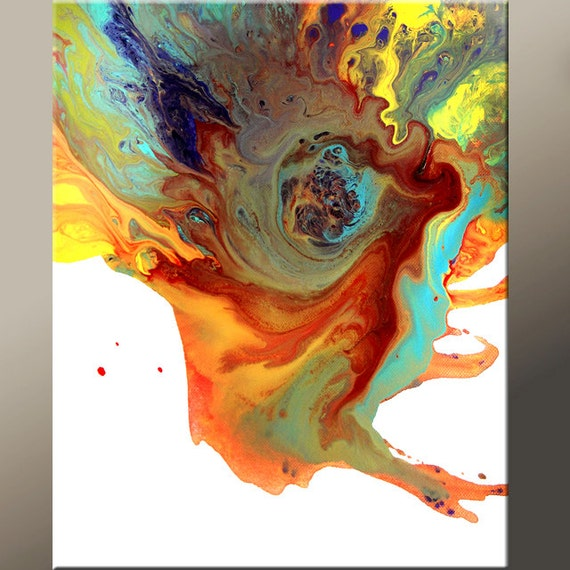 Abstract Art Print 11x14 Contemporary Wall Art Prints by Destiny Womack - dWo - Eye of The Storm
