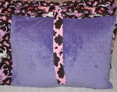 Custom Kindermat Nap Mat PRETTY PONIES with PURPLE Minky Chenille