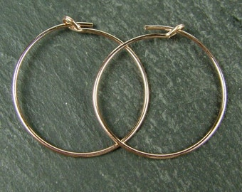 Rose Gold Filled Beading Hoop 20mm ~ PAIR (CG5942)