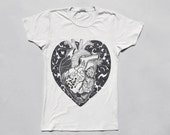 Anatomical Heart T shirt, Womens T shirt, White T shirt for Women, Medical Illustration