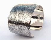 Sterling Bracelet Cuff, Corroded Look