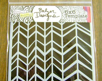 Three Great Crafters Workshop stencils - Chunky Chevron, Mums, Harlequin