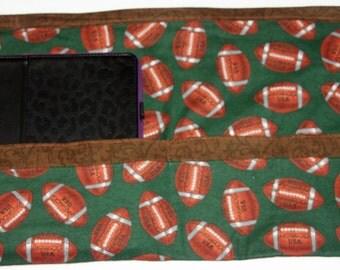 Apron Waist Half Art Craft Vendor Teacher iPad Football Sport Fabric (6 Pockets)
