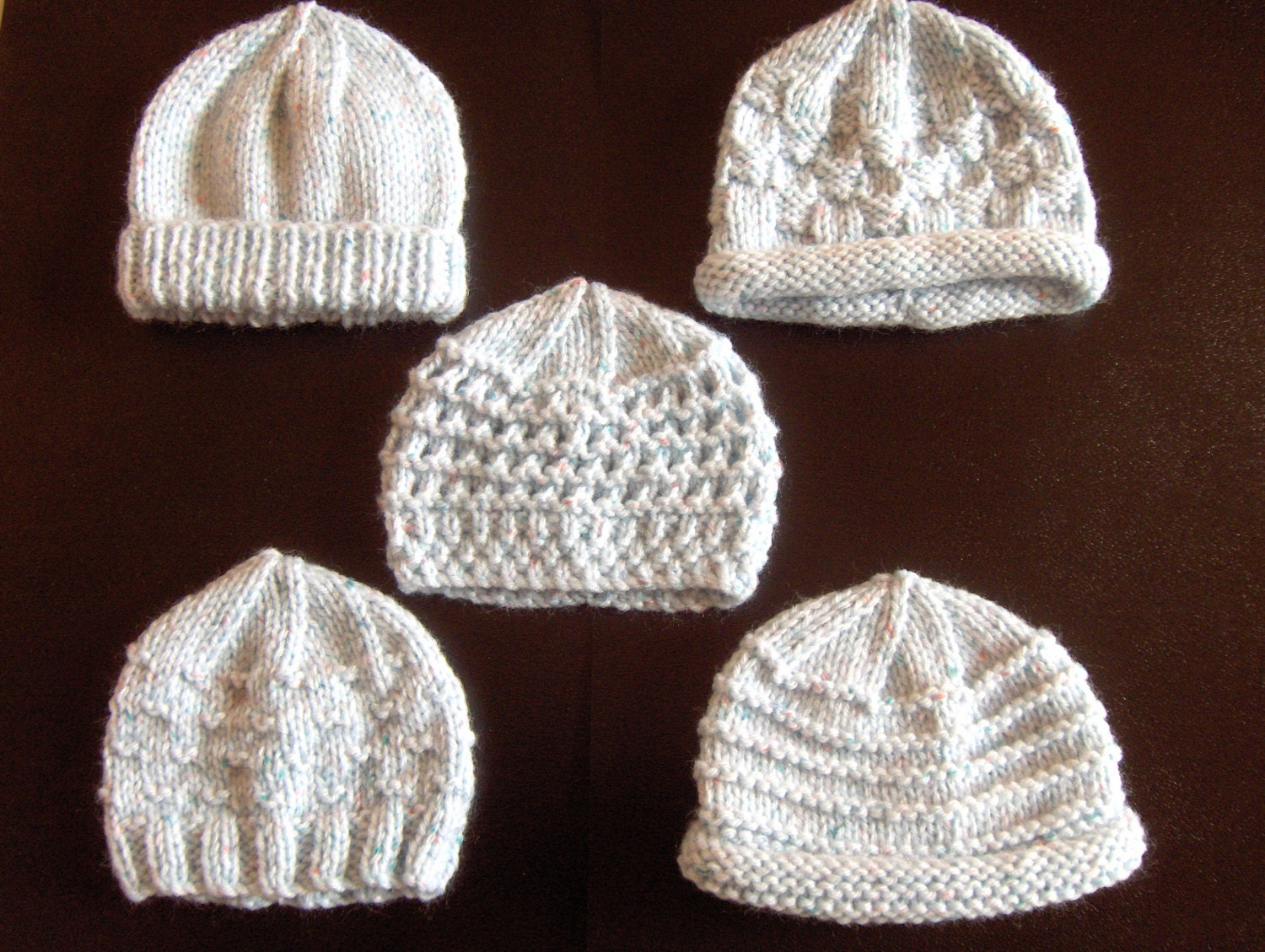 Knitting Pattern Central Baby Hats : Premature Small Baby Knitting Pattern For 5 Hats