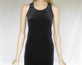 Vintage 90s Black Velvet Grunge Maxi Dress