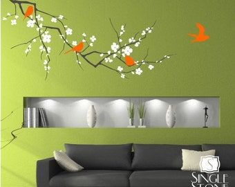 Tree Wall Decal Cherry Blossom Branch - 3 colors - Wall Sticker Art