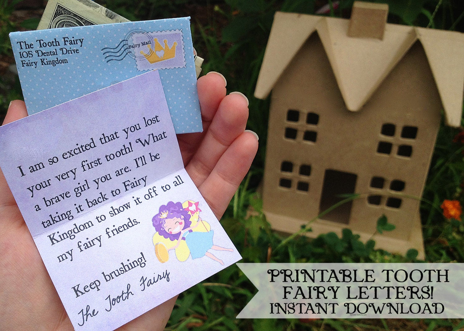 INSTANT Tooth Fairy Printable Letters Girls INSTANT