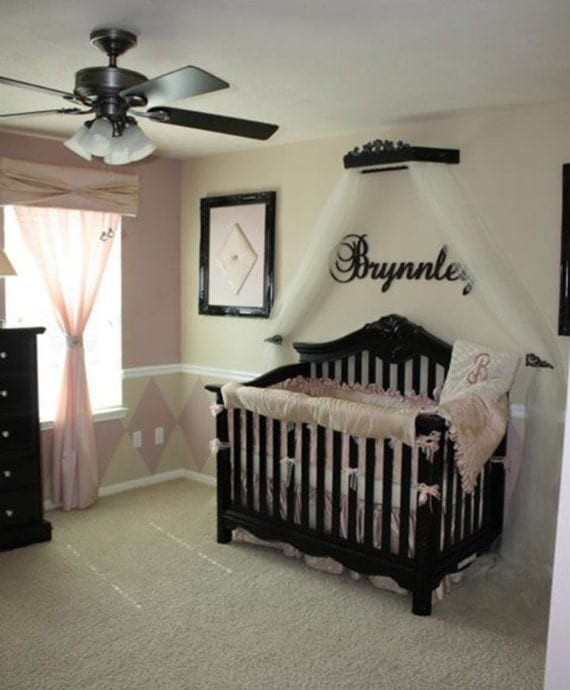 Crib canopy crown ranked first place on hgtv by for Nursery crown canopy