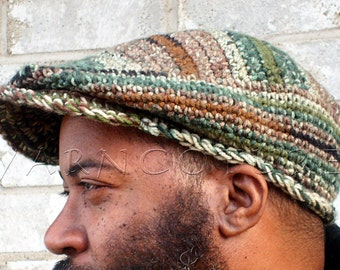 The JEFF Sport Cap For MEN - Newsboy Hat -  In Easy Care Acrylic / You CHOOSE The Color
