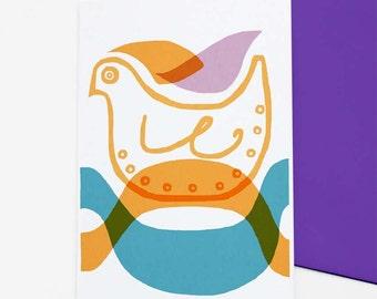 Bird - greetings card