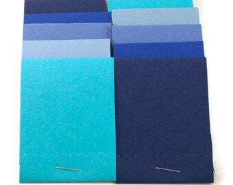 20 Matchbook Notepads   Match Books Mini Note Pads in Jazzy Blues