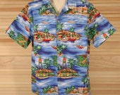 Vintage Hawaiian RJC Aloha Shirt Size XL ch 50