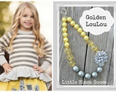 Golden LouLou 2014 chunky necklace made to match Persnickety Fall October Sky