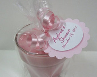 Baby Shower Candle Favors - 5 - 4oz Soy Candle Jars -  It's a Girl Baby Girl Favors