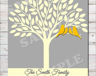 Customized Family Tree Artwork-PRINTABLE