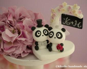 Panda Wedding Cake Topper-
